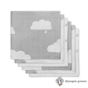 Hydrofiel luiers - Clouds - Grijs - 6st