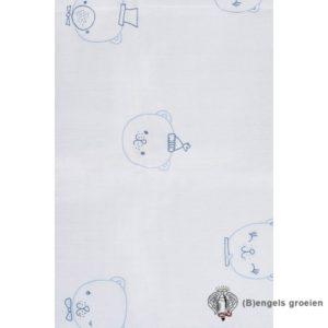 Hydrofiel multidoeken - Funny Bear - Blauw - 3st