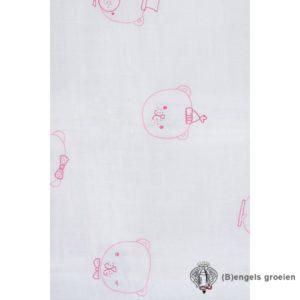 Hydrofiel multidoeken - Funny Bear - Roze - 3st