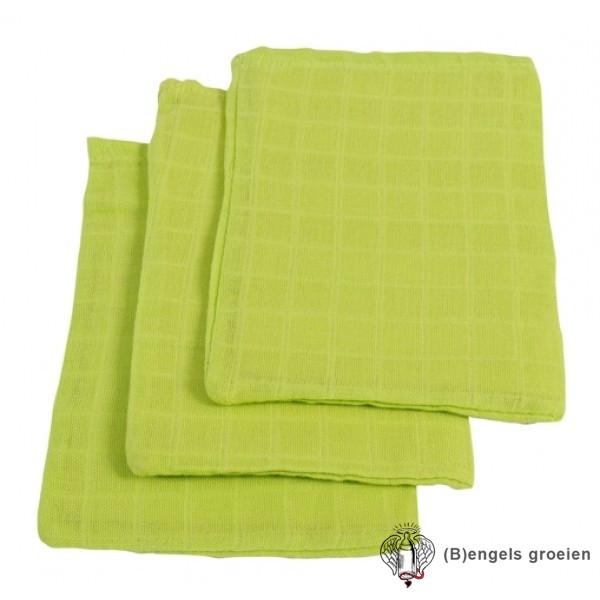 Hydrofiel washandjes - Soft Lime (3 st.)