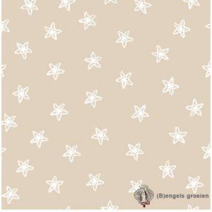 Hydrofiel washandjes - Starfish - Zand (3 st.)