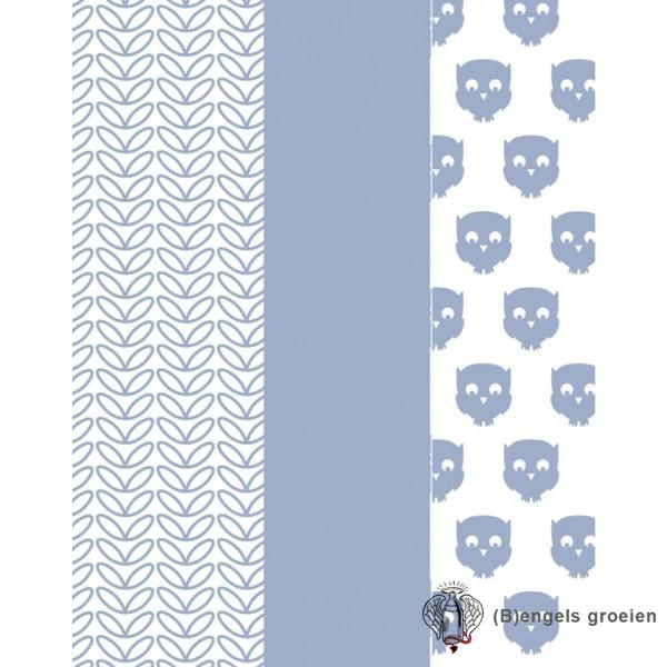 Hydrofiel washandjes - Owl - Blauw (3 st.)
