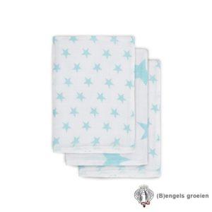 Hydrofiel washandjes - Little Star - Jade - 3st