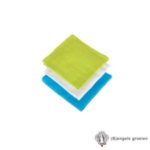 Monddoekjes - Hydrofiel - Soft Lime/Aqua/Wit (3 st.)