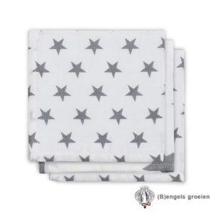 Monddoekjes - Hydrofiel - Little Star - Antraciet - 3st
