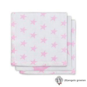 Monddoekjes - Hydrofiel - Little Star - Roze - 3st