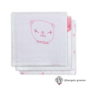 Monddoekjes - Hydrofiel - Funny Bear - Roze - 3st