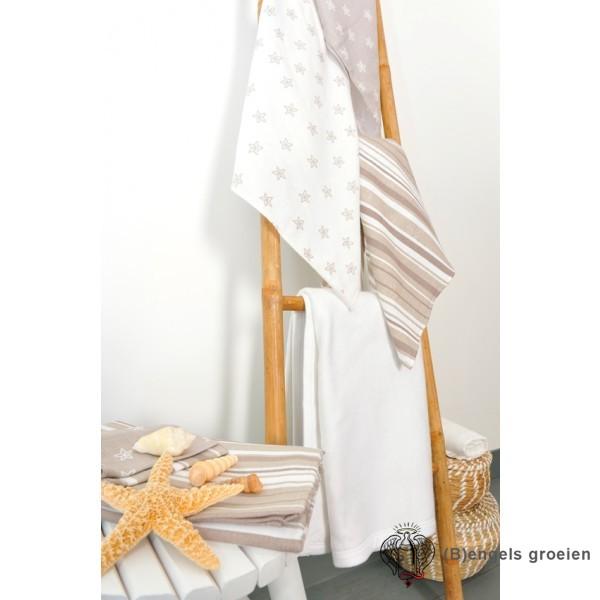 Flanellen luiers - Starfish - Grijs (3 st.)