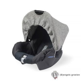 Zonnekapje - Autostoel - Stonewashed knit - Grijs