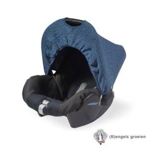 Zonnekapje - Autostoel - Stonewashed knit - Navy