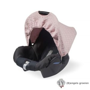 Zonnekapje - Autostoel - Diamond knit - Vintage Roze