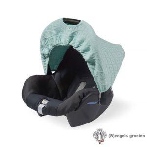 Zonnekapje - Autostoel - Diamond knit - Vintage Groen
