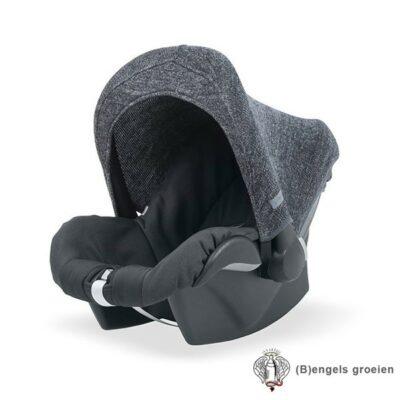 Zonnekapje - Autostoel - Natural knit - Antraciet