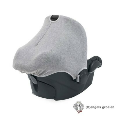 Zonnekapje - Autostoel - Natural knit - Grijs