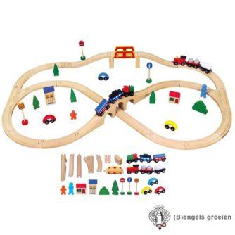 Houten Trein Set - 49 delen