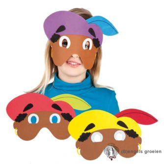 Zwarte Piet - Foam maskers - 3 Ass