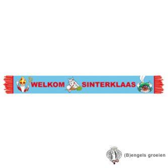 Sint en Piet - Sjaal - Welkom Sinterklaas - 96 x 12 cm