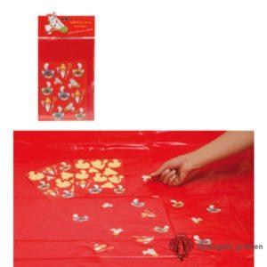 Sint en Piet - Tafelkleed met 24 Stickers - 130 x 180 cm
