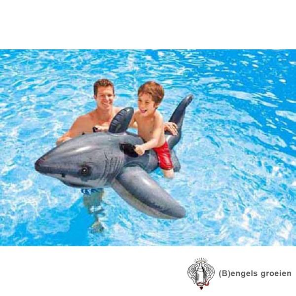 Ride-on - Opblaasbaar - Witte Haai