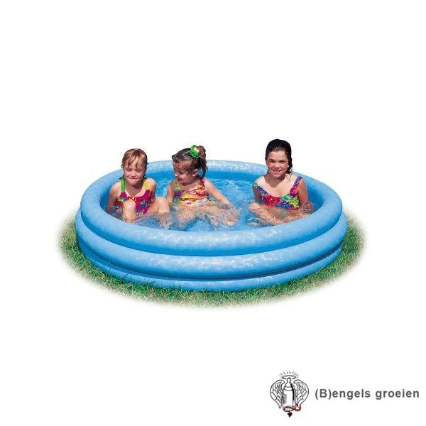 Zwembad - Crystal Blue - 3 Ringen - 147 x 33 cm