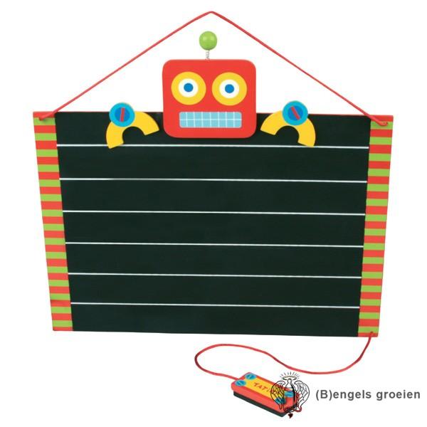 Krijtbord - Robot - Rood