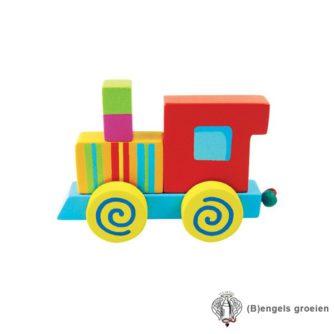 Houten Letter - Treinalfabet - Locomotief