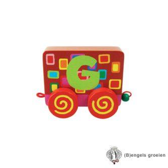 Houten Letter - Treinalfabet - G