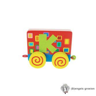 Houten Letter - Treinalfabet - K