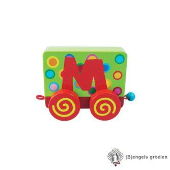 Houten Letter - Treinalfabet - M