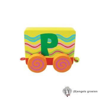 Houten Letter - Treinalfabet - P