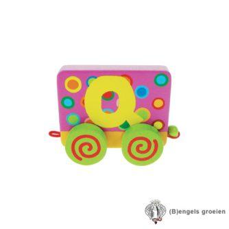Houten Letter - Treinalfabet - Q