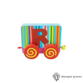Houten Letter - Treinalfabet - R
