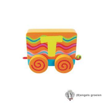 Houten Letter - Treinalfabet - T