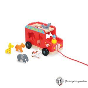 Trekauto - Circuswagen - Incl. Accessoires