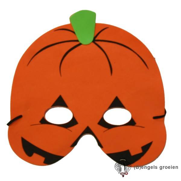 Pompoen Halloween.Halloween Foam Masker Pompoen