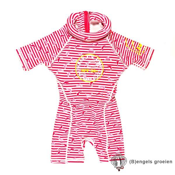 Drijfpakje - Dolphin Stripe - Roze - 1-2 jr
