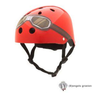 Veiligheids helm - Rood met Motorbril - S