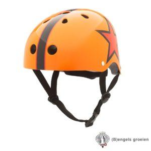 Veiligheids helm - Oranje met Ster - S