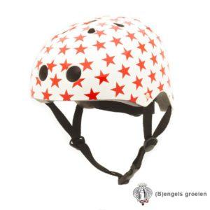 Veiligheids helm - Wit met Rode Sterren - M