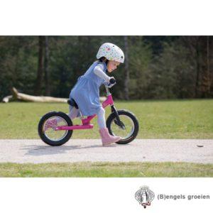 Veiligheids helm - Wit met Rode Sterren - S