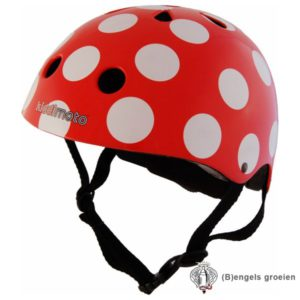 Helm - Dotty - Rood/Wit - S