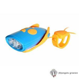 Fietslamp met geluid - Mini Hornit - Blauw