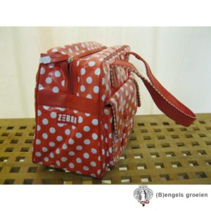 Handtas - Stippen - Rood/Wit