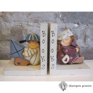Boekensteun Set Jongetje En Meisje