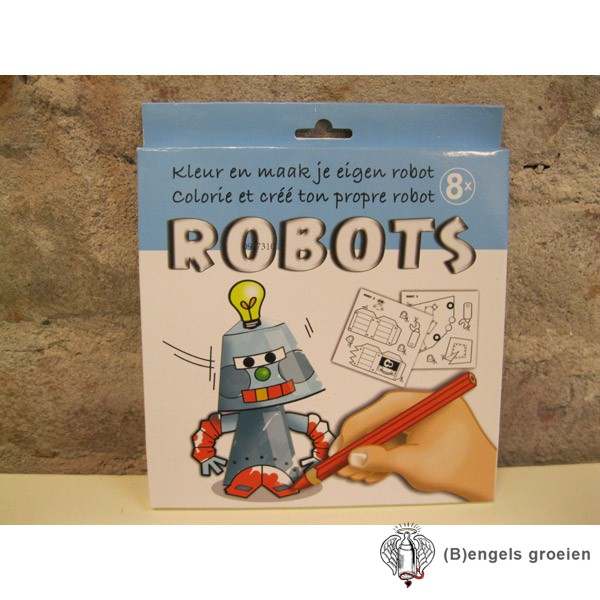 Kleur En Maak Je Eigen - Robots