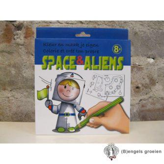 Kleur En Maak Je Eigen - Space & Aliens