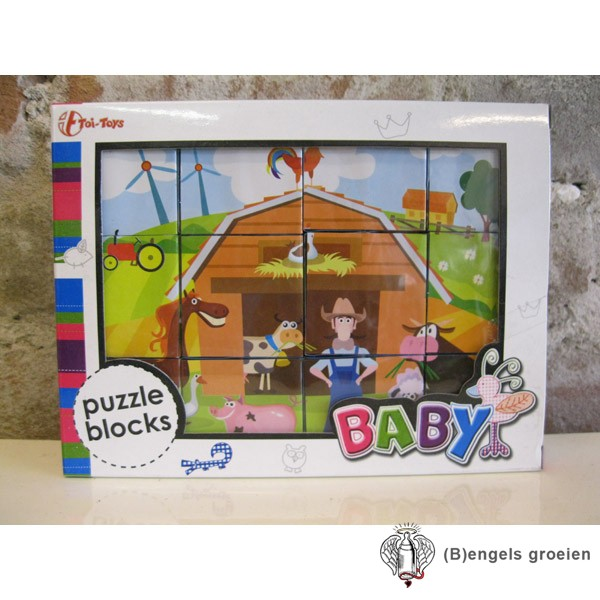 Puzzelblokken - Boerderij
