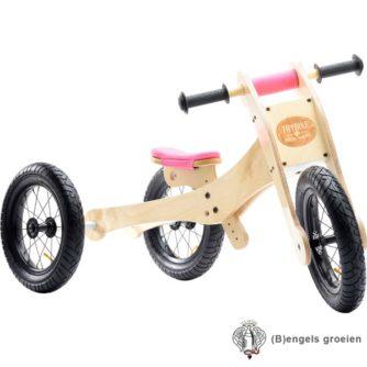 Trybike - 4 in 1 Loopfiets - Hout - Roze